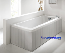 Tongue and Groove Silver 2 Piece adjustable Bath Panels